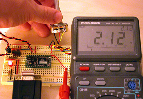 While the voltage going into pin 13 can range from 0-5 volts, the BX-24 converts the continous voltage...