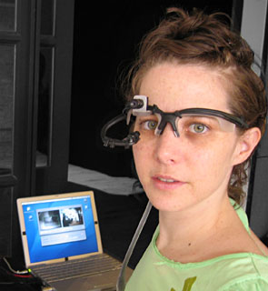 eyetracking headgear with Mac OS X and Powerbook G4